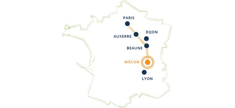 Plan d'accès du cru Saint-Véran